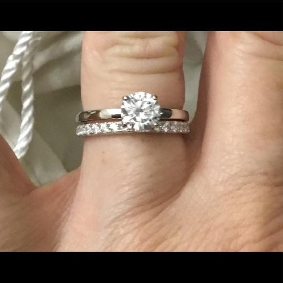 d7f3f4157b08d New DIAMONIQUE 2.75 Ct. Round Bridal Ring Set Sz 8